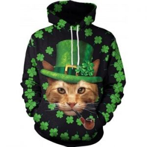 Unisex 3D Novelty Hoodies Clover Hoodies Sweatshirt Pockets