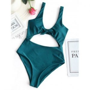 Cut Out Front Tied Swimwear