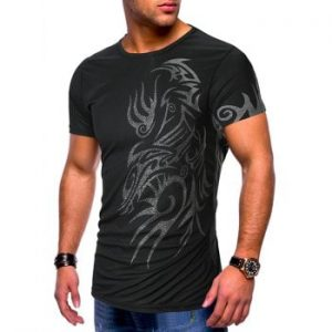 Tattoo Print Short Sleeves Casual T shirt