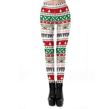 Christmas Digital Print Feet Leggings