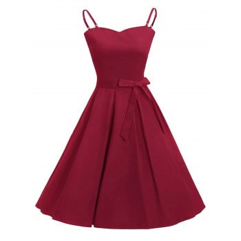Belted Vintage Dress