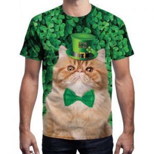 3D Cat Printed T shirt