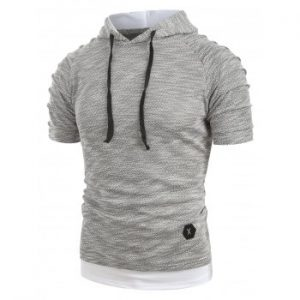 Drawstring Hooded T shirt