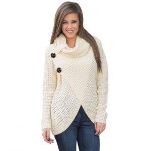 Women Long Sleeve Knitting Sweater