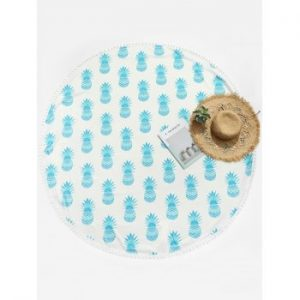 Pineapple Round Beach Throw