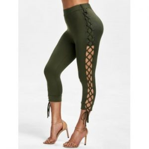 Lace Up Capri Pants