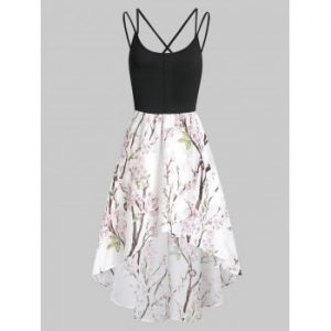 Asymmetric Floral Cami Dress