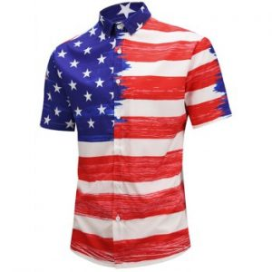 American Flag Design Shirt