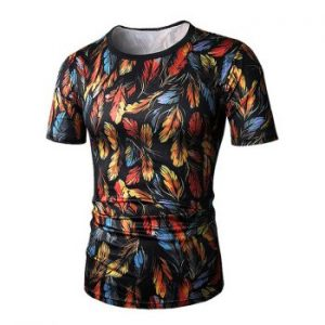 Feather Pattern T shirt