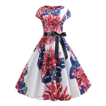 Floral Belted Dress
