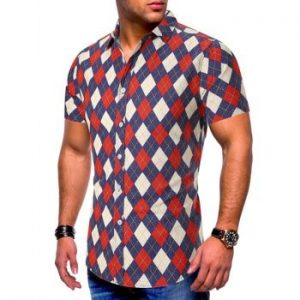 Argyle Pattern Shirt