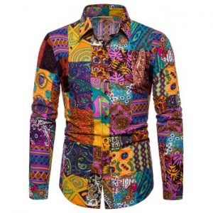 Ethnic Print Long Sleeves Shirt