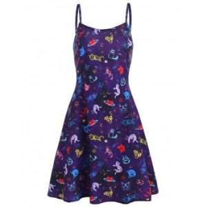Cats Graphic Cami Dress