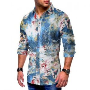 Scenery Colorful Painting Print Shirt