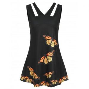 Butterfly Print Tank Top