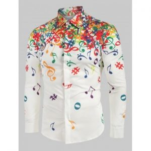 Musical Note Pattern Shirt