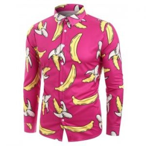 Banana Pattern Long Sleeves Shirt