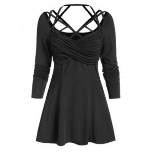 Strappy Ruched T shirt