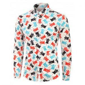 Ghost Print Long Sleeves Shirt