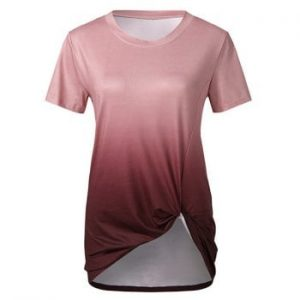 Twisted Front Ombre Tee