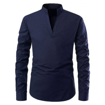 Long Sleeves Solid Color Shirt