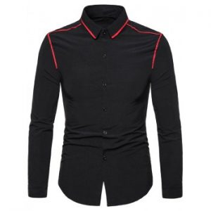 Long Sleeves Panel Shirt