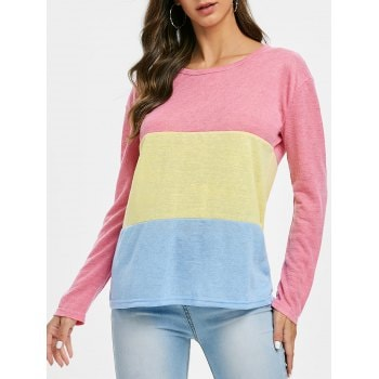 Color Block Knitted Top