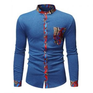 Tribal Print Casual Long Sleeves Shirt