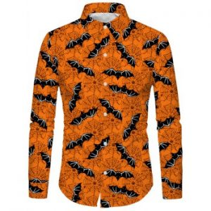 Bat Spider Pattern Shirt