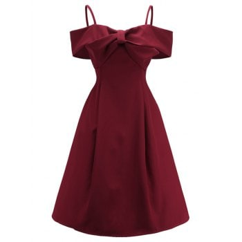 Bowknot A Line Cami Dress