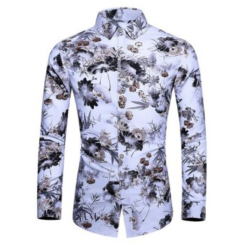 Ink Floral Painting Shirt