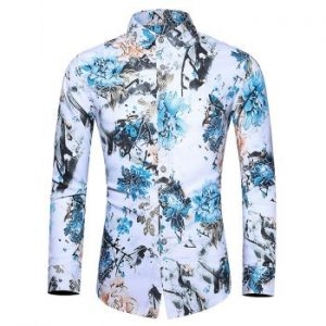 Flower Print Casual Shirt