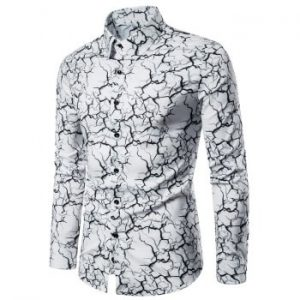 Marble Graphic Print Shirt
