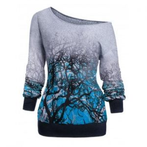 3D Tree Print Sweatshirt