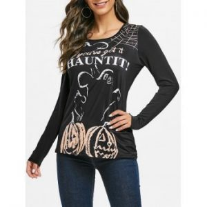 Halloween Pumpkin Long Sleeve T shirt