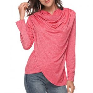 Heather Cowl Front Hoodie