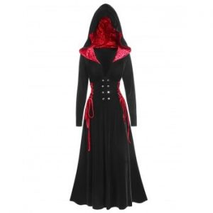 Halloween Hooded Long Gothic Coat