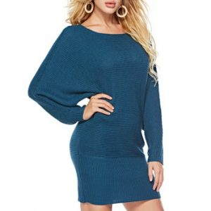 Batwing Sleeves Solid Sweater