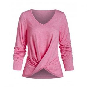 Long Sleeve V Neck T shirt